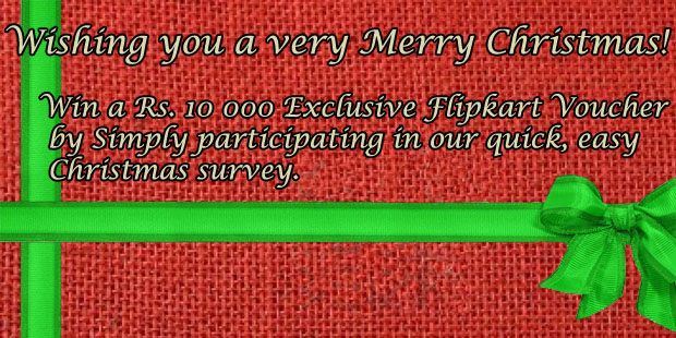 CouponSpy Christmas Survey: Win a Rs 10 000 Flipkart Voucher